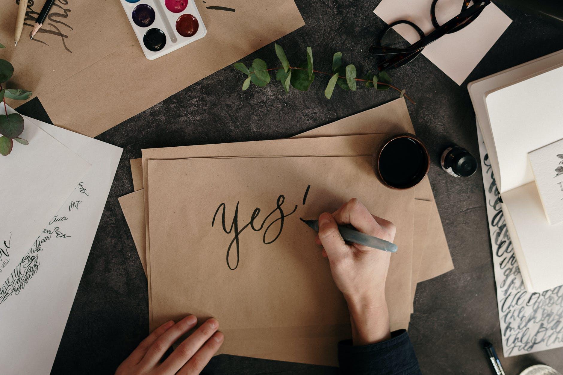 obálka, písanie na obálku